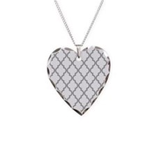 Gray Moroccan Pattern (Invert Necklace