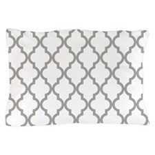 Gray Moroccan Pattern (Inverted) Pillow Case