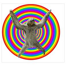 Rainbow Sloth Poster