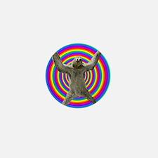 Rainbow Sloth Mini Button