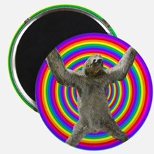 Rainbow Sloth Magnet