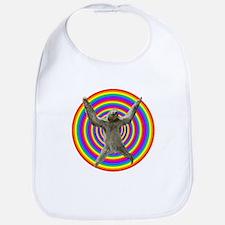 Rainbow Sloth Bib