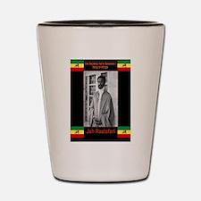 Haile-Selassie-Jah_Rastafari Shot Glass