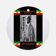 Haile-Selassie-Jah_Rastafari Ornament (Round)