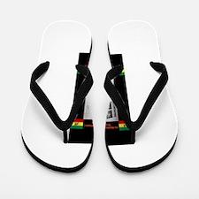 Haile-Selassie-Jah_Rastafari Flip Flops