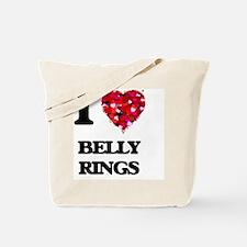I love Belly Rings Tote Bag