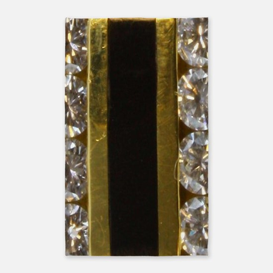 diamond_black_coral_gold_ Area Rug