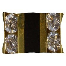 diamond_black_coral_gold_ Pillow Case