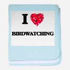 I love Birdwatching baby blanket