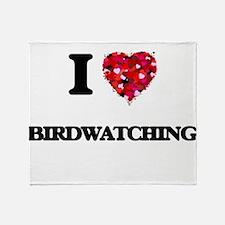 I love Birdwatching Throw Blanket