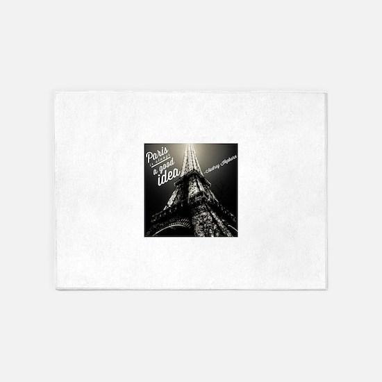 Audrey Hepburn Paris 5'x7'Area Rug