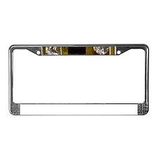 diamond_black_coral_gold_ License Plate Frame