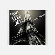 Audrey Hepburn Paris Throw Blanket