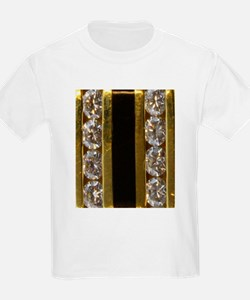 diamond_black_coral_gold_ T-Shirt