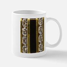 diamond_black_coral_gold_ Mugs