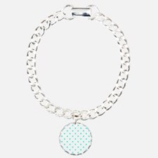 White & Turquoise Polka Bracelet