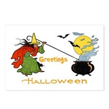 Halloween Witch Cauldron Postcards (Package of 8)