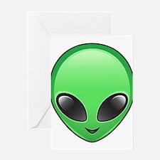 alien emoji Greeting Cards