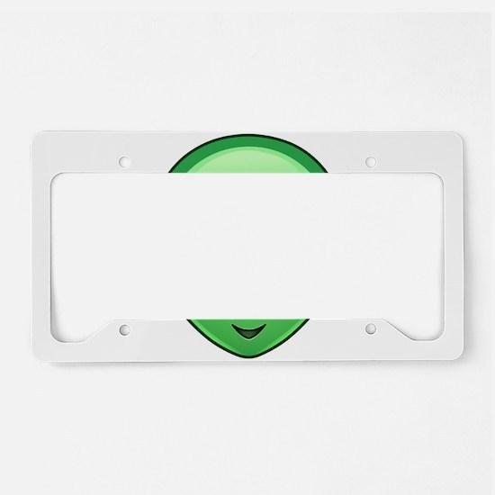 alien emoji License Plate Holder