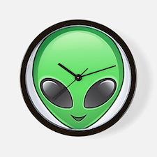 alien emoji Wall Clock