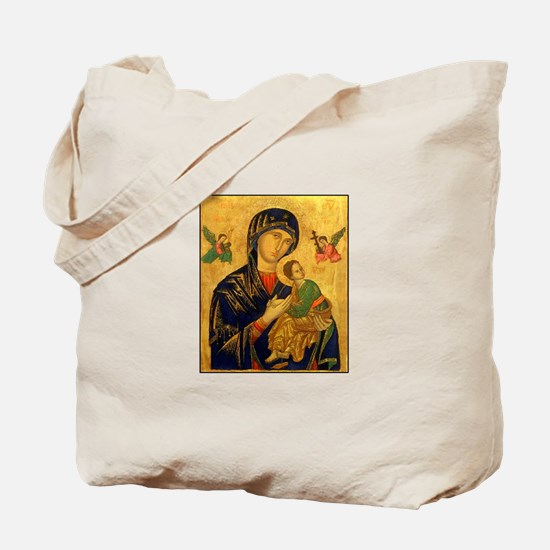 Blessed Mother of Perpetual H Tote Bag