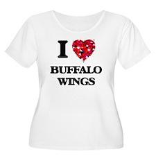 I love Buffalo Wings Plus Size T-Shirt