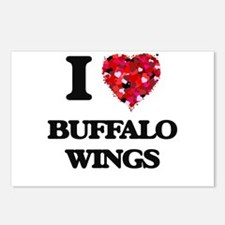 I love Buffalo Wings Postcards (Package of 8)