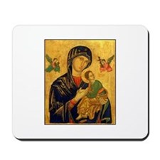 Blessed Mother of Perpetual H Mousepad