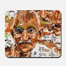 Gandhi wins Mousepad