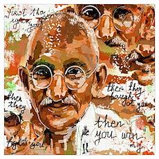Gandhi wins Poster