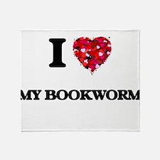I love My Bookworm Throw Blanket