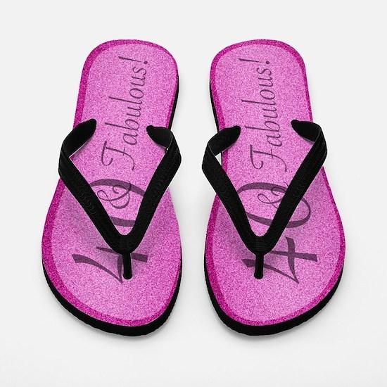 40th Birthday Fabulous Flip Flops
