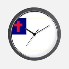 Christian_flag Wall Clock