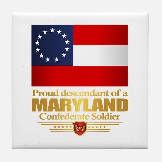Maryland Proud Descendant Tile Coaster