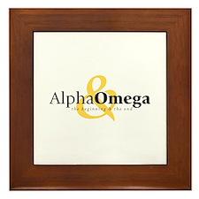 Alpha and Omega Framed Tile