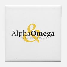 Alpha and Omega Tile Coaster