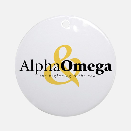 Alpha and Omega Ornament (Round)