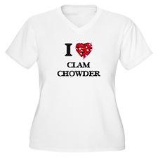 I love Clam Chowder Plus Size T-Shirt