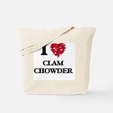 I love Clam Chowder Tote Bag