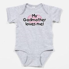 My Godmother loves me (pk) Baby Bodysuit