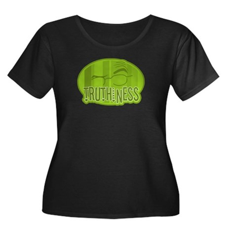 Truthiness 2 Women's Plus Size Scoop Neck Dark T-S
