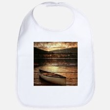 rustic country lake canoe Bib