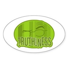 Truthiness 2 Oval Decal