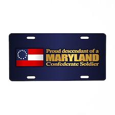 Maryland Proud Descendant Aluminum License Plate