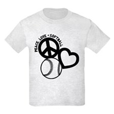 PEACE-LOVE-SOFTBALL T-Shirt