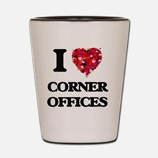 I love Corner Offices Shot Glass