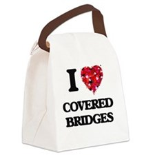 I love Covered Bridges Canvas Lunch Bag