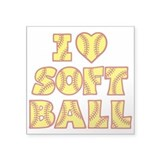 Girls softball Square