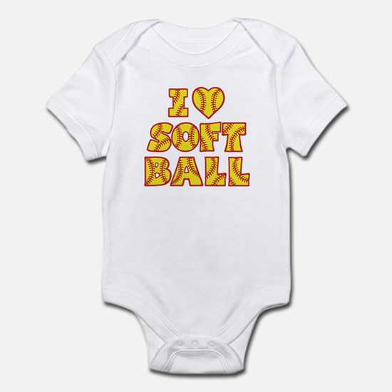 Love Softball Infant Body Suit