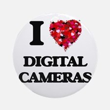 I love Digital Cameras Ornament (Round)